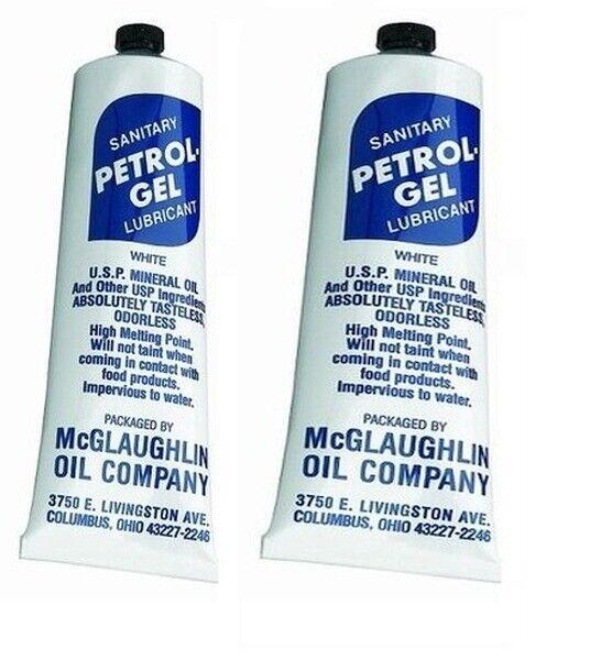 Food Grade Petrol Gel / Keg Lube / Sanitary Lubricant - Two 4oz Tubes