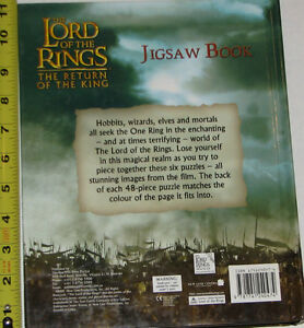 Lord of the Rings 6 Puzzles BOARD Book London Ontario image 2