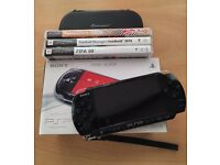 PSP Console + 3 Games