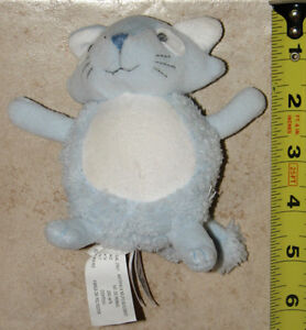 Blue Plush Cat with Rattle by The Baby GAP London Ontario image 1