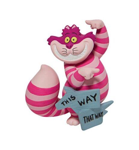 Disney Showcase Alice In Wonderland: Cheshire Cat This Way Mini Figurine 6008699