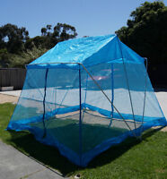Square blue screen picnic camping tent / house / marquee