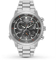 "Citizen Men's AT4110-55E ""Nighthawk"" A-T Quartz Silver Dress"