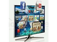 "Samsung 46"" LED smart 3D tv wifi builtin USB media player HD freeview"