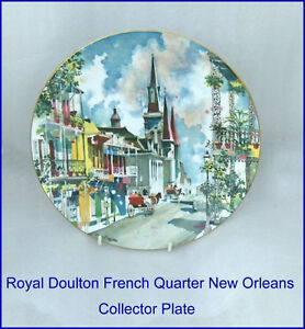 """French Quarter New Orleans Royal Doulton 10-1/4""""   Plate"""