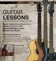 Guitar and Bass Lessons - Beginner to Advanced, all Styles