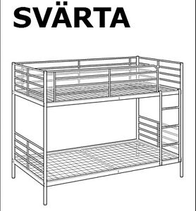 Ikea Bunk bed frame, silver color Kitchener / Waterloo Kitchener Area image 1