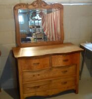 Bed room dresser with mirror