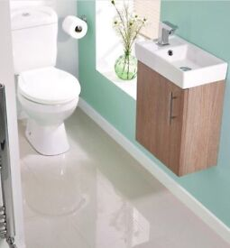 Oak Wall Hung Compact Zurich WC Suite