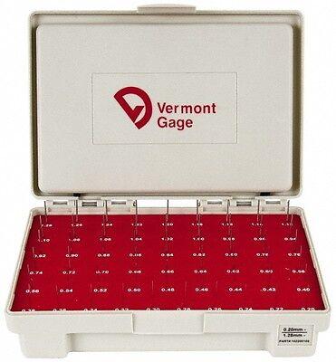 Vermont Gage 55 Piece 0.2-1.28 Mm Diameter Plug And Pin Gage Set Minus 0.01 ...