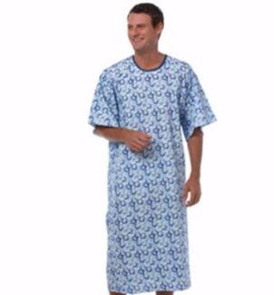 Hospital Gown with Back Tie / Hospital Patient Gown with Ties