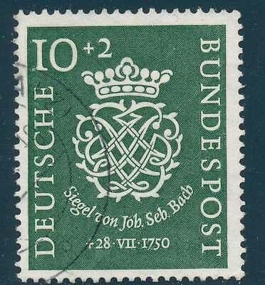 Bund Nr. 121 gestempelt, 10 + 2 Pfg.  200. Todestag J.S. Bach (36722)
