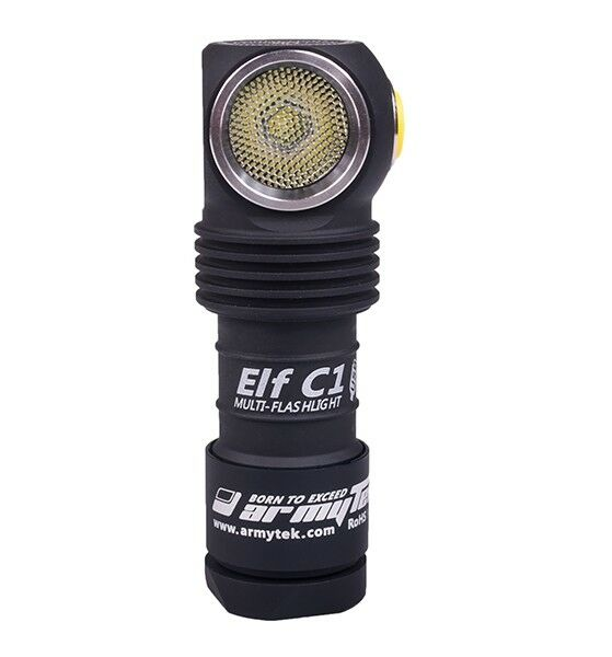 New Armytek Elf C1 USB Cree XP-L 1050 Lumens LED Headlight Flashlight With 18350
