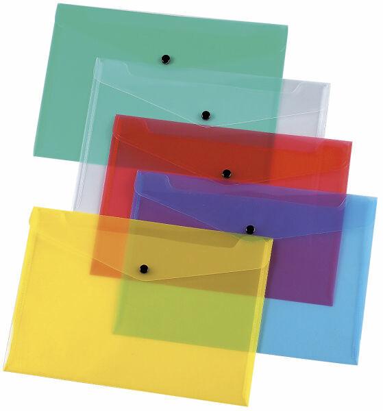 Dokumentmappenmappe A4, Dokumententasche, Sammelmappe,versch. Farben/Mengen, PP