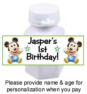 30 Baby Mickey Mouse Birthday Party OR Shower Mini Bubble Stickers Labels (Mini Mouse Birthday)