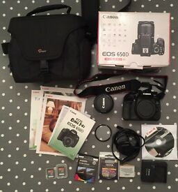 Canon 650D EF-S 18-55 IS II KIT + EXTRAS DSLR CAMERA