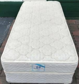 Good condition Sealy Brand single bed for sale. Delivery is avail