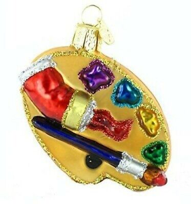 Old World Christmas 36065 Glass Blown Artist's Palette Ornament