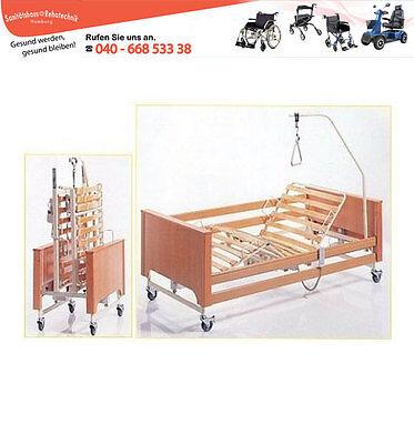 Pflegebett / Seniorenbett / 3-fach elektrisch / Ortopedia / bis 120kg / 90x200cm