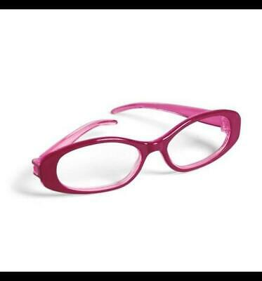 New American Girl Rosy Pink Eye Glasses with felt Case embroidered American (Girls With Eye Glasses)
