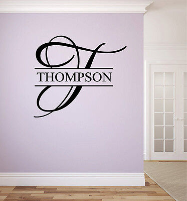 Personalized Family Name Monogram #11 Living and Family Room Vinyl Wall Decal