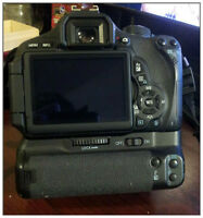 Canon T3i with 18-135mm and battery grip