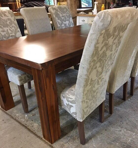 Furniture Village Dining Tables image of modern walnut extendable dining table. brand new exdemo