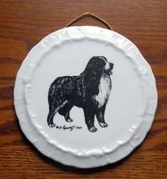 Bernese Mountain Dog Ceramic Wall Plate