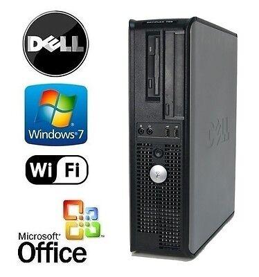 Dell Desktop Quad Core 2 33Ghz 8Gb 512Gb Ssd Win 7 Pro Dual Monitor Support Vga