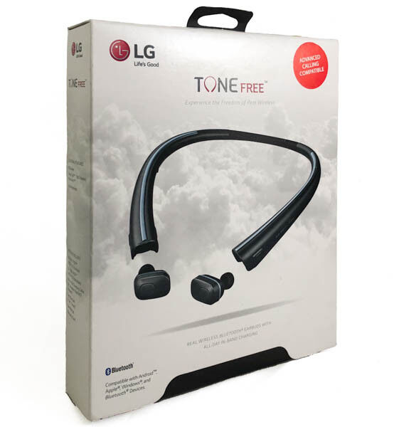 LG TONE FREE HBS-F110 Wireless Earbuds w. Charging Neckband