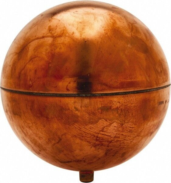 Made in USA 4 Inch Diameter, Spherical, Round Spud Connection, Metal Float 1/...