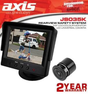 """Axis Rearview Safety System 3.5"""" Lcd Colour Monitor With Univer"""