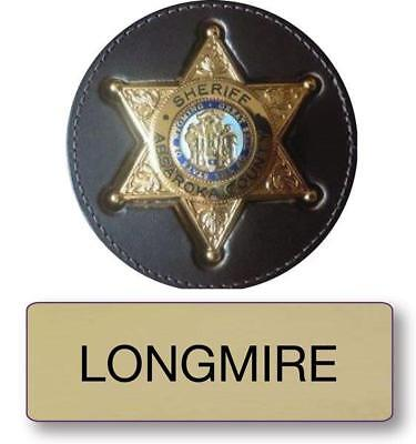 LONGMIRE POLICE NAME BADGE & SHERIFF 3