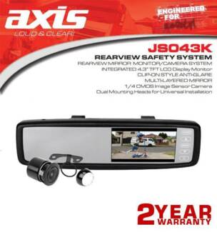Axis Rearview Mirror Monitor Camera System Kit
