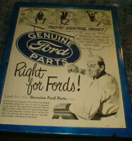 1948 ' Genuine Ford Parts' advertisement -ready to display