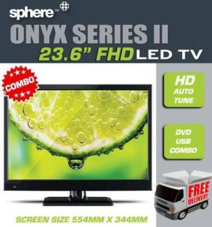 "Sphere Onyx S2 23.6"" Fhd Led Tv Dvd Combo"