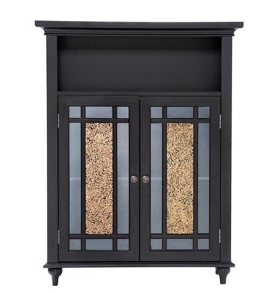 Elegant Home Fashions ELG-534 Windsor Double Door Floor Cabinet Dark Espresso