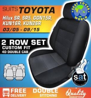 True Fit Custom Fit Seat Covers - Suit Toyota Hilux SR, SR5 - GGN
