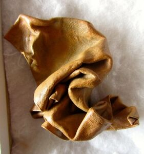 Large Leather Brooch, Artisan-Made