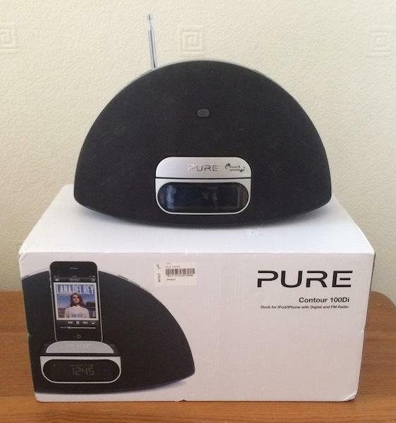 pure contour 100di iphone dock dab fm radio 30 pin with lightning adapter in west end. Black Bedroom Furniture Sets. Home Design Ideas