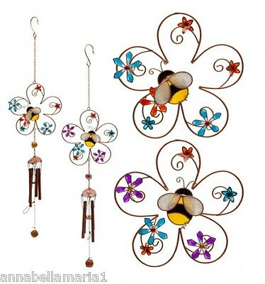 FAIR trade BEE and FLOWER suncatcher WINDCHIME hanging MOBILE decoration BNIB