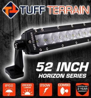 52 inch curved led light bar and windscreen brackets to suit bt50 52 inch 250w tuff terrain led light bar mozeypictures Choice Image
