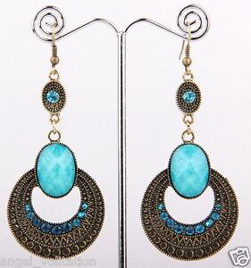 100-new-Credible-fashion-Tibet-Silver-Swarovski-Crystal-Dangle-Earring-A536