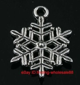 tibet silver snow charm pendant and necklace---NEW!!