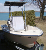 2003 OPEN DECK CENTRE CONSOLE. T-TOP 17.2 Ft. 4 STROKE OUTBOARD