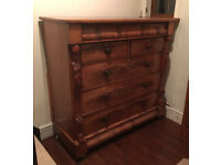 Antique Georgian Solid Wood Chest of Drawers