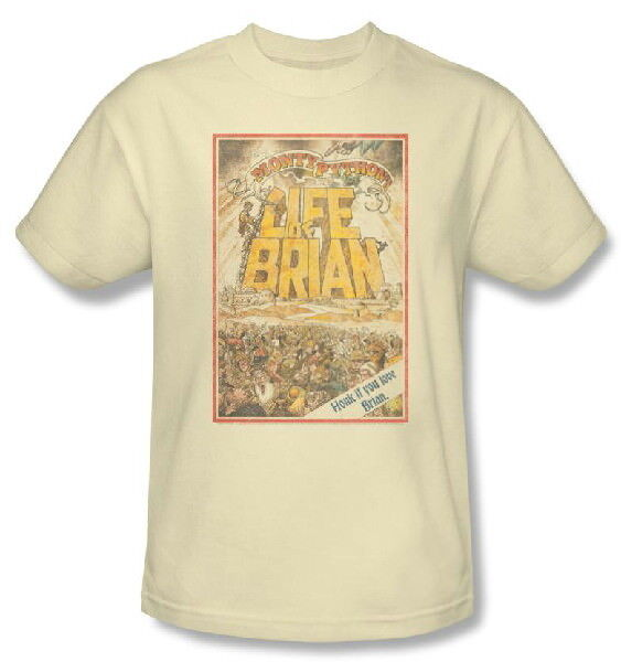 Monty Python and The Life of Brian Movie Poster T-Shirt Size Small NEW UNWORN