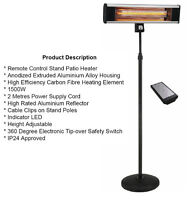 BRAND NEW INFRARED PATIO HEATER 1500W FOR PATIO