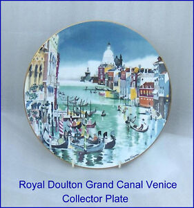 """Grand Canal Venice Royal Doulton 10-1/4"""" Collector  Plate"""