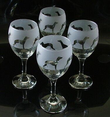 Whippet dog gift Wine Glasses
